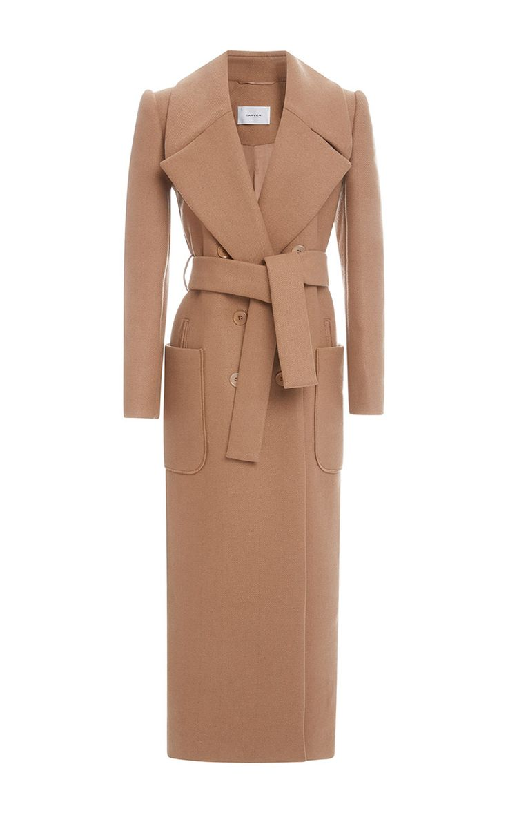 Carven Long Belted Coat by Carven for Preorder on Moda Operandi