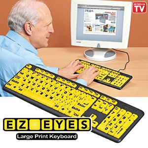 EZ Eyes (TM) Keyboard - Large print keyboard makes using your computer easier than ever! (Product Number HC5219) $17.98 CAD