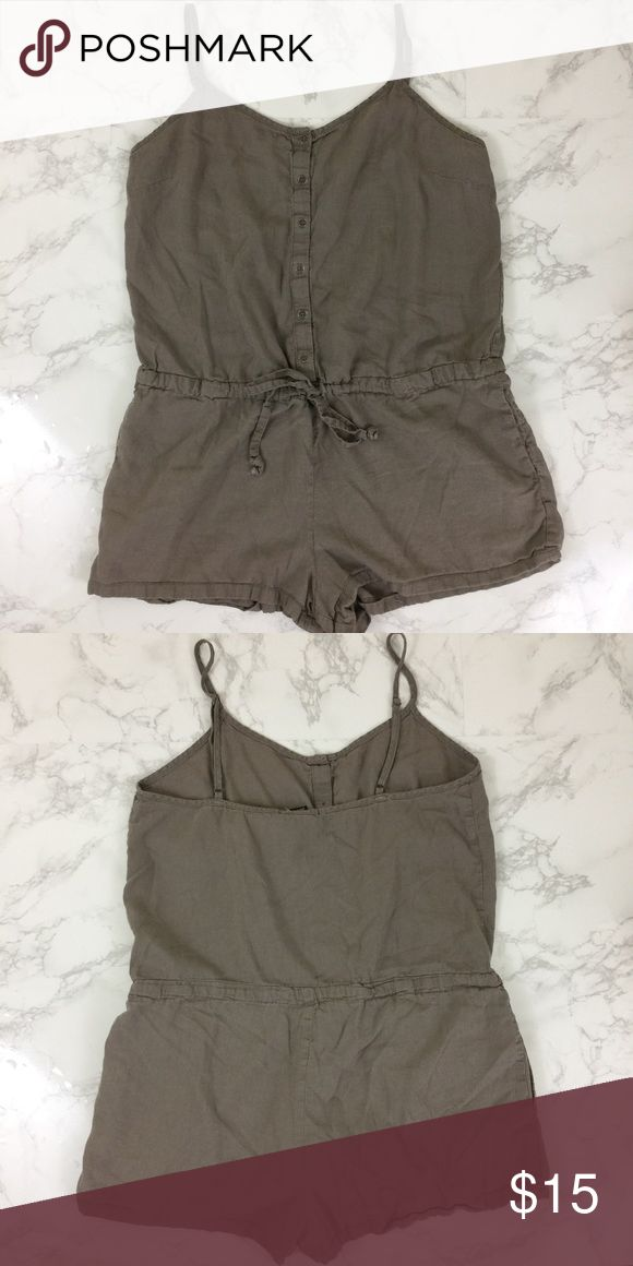 Forever 21 Grey One Piece Romper Forever 21 one piece romper in size medium. In excellent condition no signs of wear. Forever 21 Tops