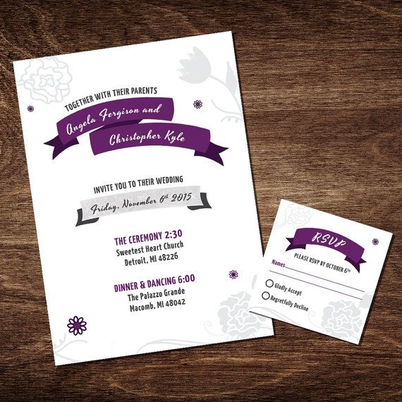 7 best invitation design images on pinterest invitation design wedding invitation photoshop template by f5phototemplates on etsy stopboris Images