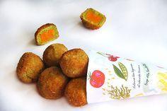Le petit pois - carotte revisité purée petit pois + purée carottes + chapelure
