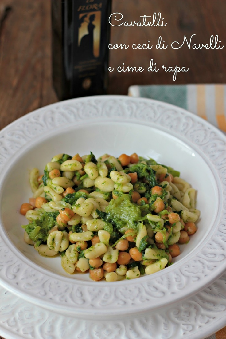 My cavatelli with chickpeas and cime di rapa