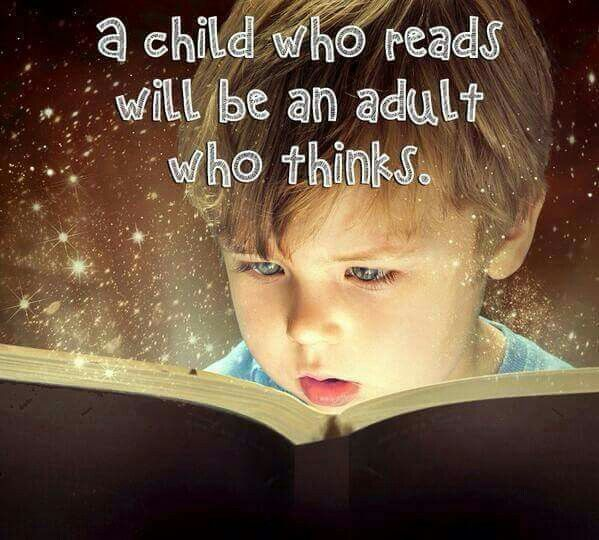 And how does a child learn to read?  We read to him from the day he is born.