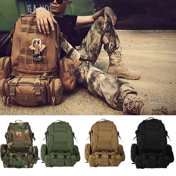 Mochilas de forças armadas de Camo viagem de mochila tática existente ao ar livr: Bid: 56,04€ Buynow Price 56,04€ Remaining 07 dias 17 hrs