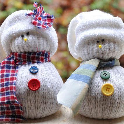 DIY: Sokken Sneeuwpop www.kienk.nl