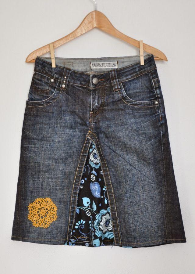 Ze starých oblíbených džínových kalhot - sukně
