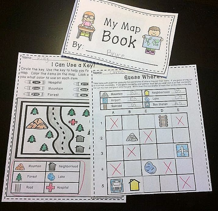 Map skills is one of my favorite social studies units to teach in 2nd grade.  And, over time I have created many anchor charts, games, and activities for teaching kids about maps, and I want to share it all with you. Come and see how you can engage your students with this map skills mini unit!