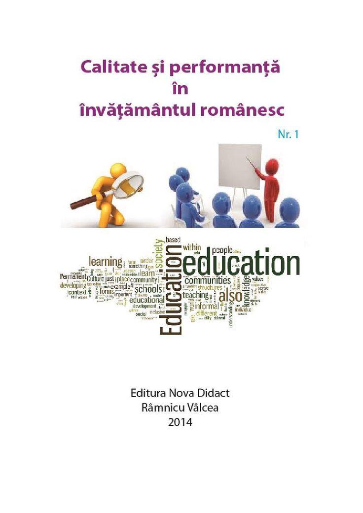 Revista - Calitate si performanta in invatamantul romanesc - Nr. 1 Decembrie 2014