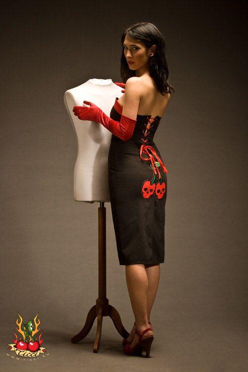 Sexy Cherry-schedel jurk