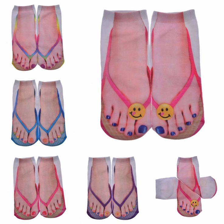Mehrere Farben Harajuku Stil 3D socken frauen Druck Socken Casual Charactor Flip Flop Socken Unisex Low Cut Socken