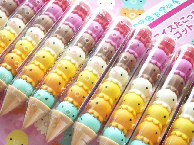Kawaii Cute Ice Cream Takochu Set Japanese Small Toy Collection by Kawaii Japan, via Flickr