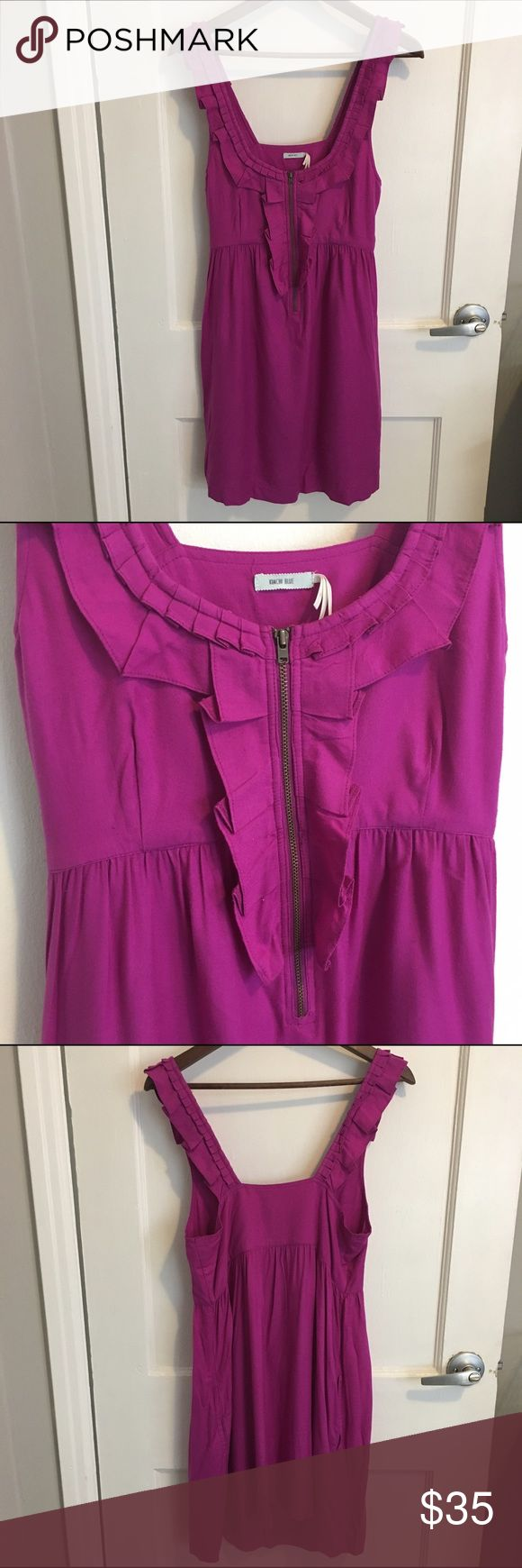 Anthropologie Kimchie Blue fuchsia dress Fun little number for summer. Pair it with funky jewelry and cool shoes and you've got the perfect party look. Anthropologie Dresses