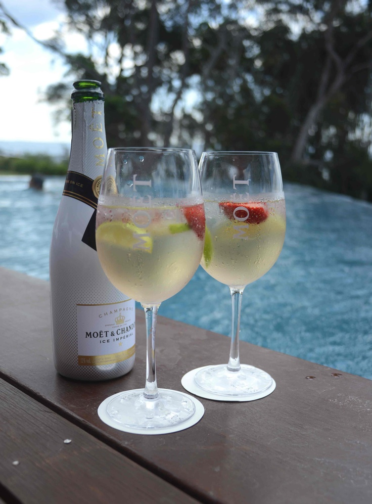 Moët ice by the pool