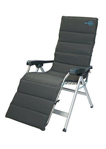 Bo-Camp Mobilier de camping BC Coussin chaise relax gris Grey: Housse de chaise universelle pour chaise relaxante Couverture rembourrée de…