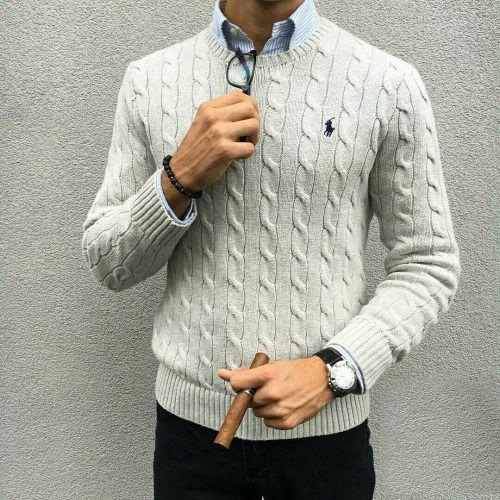 Pull écru + Chemise bleu = Accord Parfait #nouvelleco #style #homme #mode