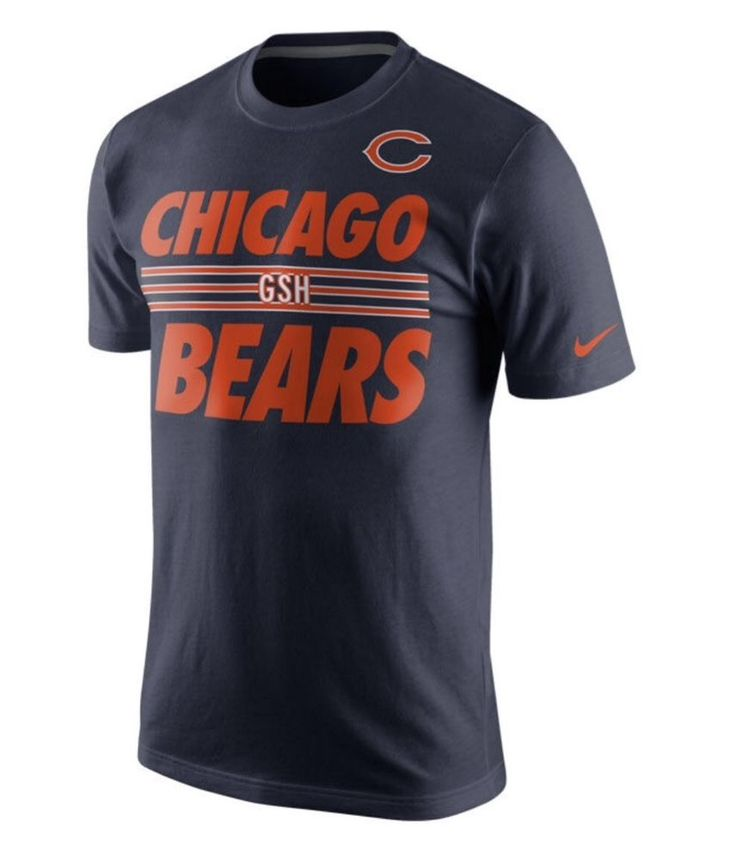 Chicago Bears Nike NFL Team Stripe GSH XL Athletic Cut Cotton T-Shirt $28 #