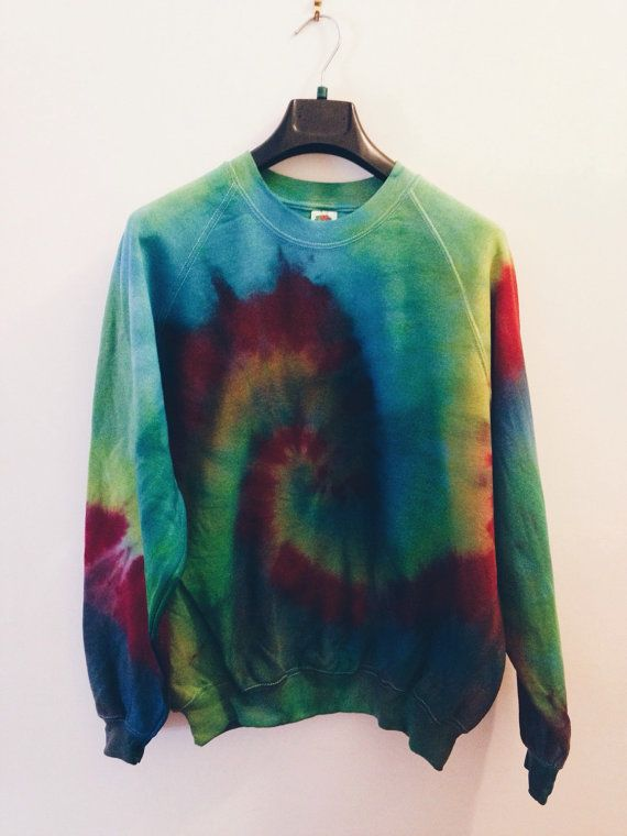 Tie Dye Sweatshirt by OxfordCommaShirts on Etsy