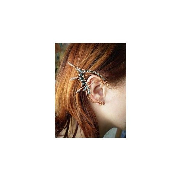 Ear Cuff Dragon Guardian Elf Ear Cuff jewelry art ❤ liked on Polyvore featuring jewelry and ear cuff jewelry