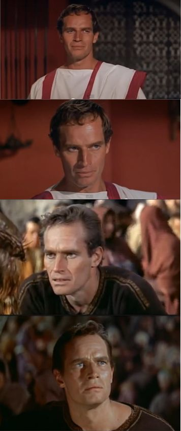 "Charlton Heston. Oscar 1960 nominee and winner. Best Actor in a Leading role for ""Ben-Hur"". Character: Judah Ben-Hur."