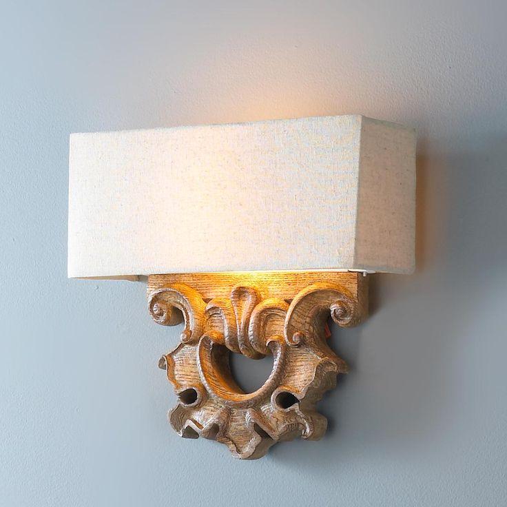 Wooden Carved Sconce $119