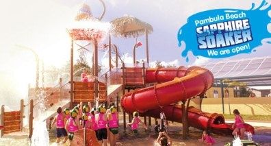 The Sapphire Soaker! Brand new water park at Discovery Holiday Parks - Pambula Beach #DiscoveryParksPambulaBeach