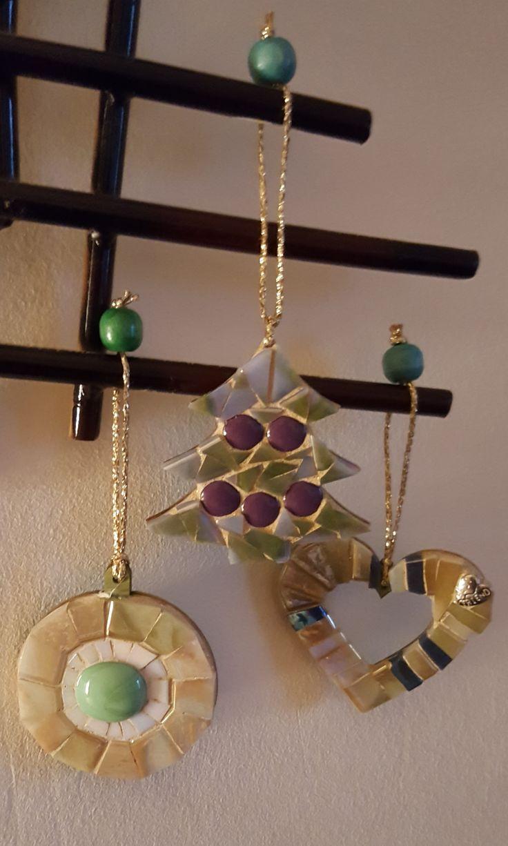 Cristmas decoration - glass and ceramic mosaic