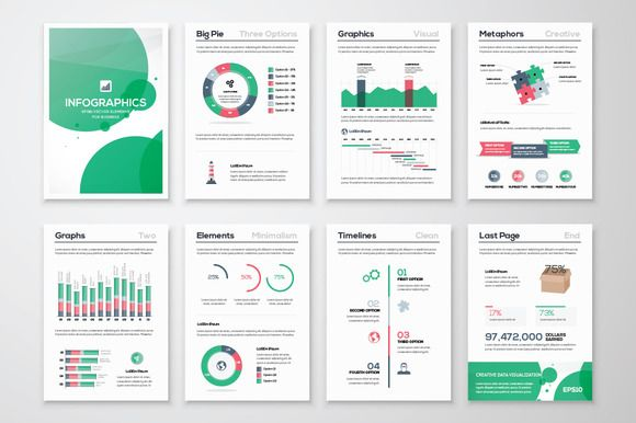 Infographic Brochure Elements 11 by Infographic Template Shop on @creativemarket
