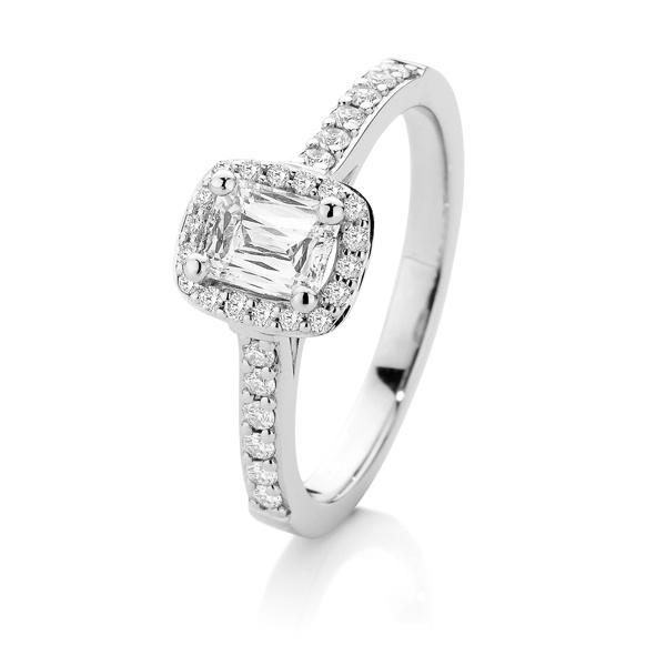 Crisscut 18ct White Gold Diamond Ring