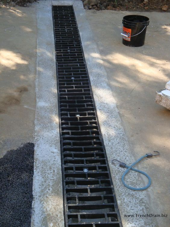 17 best ideas about trench drain on pinterest trench for Residential trench drain