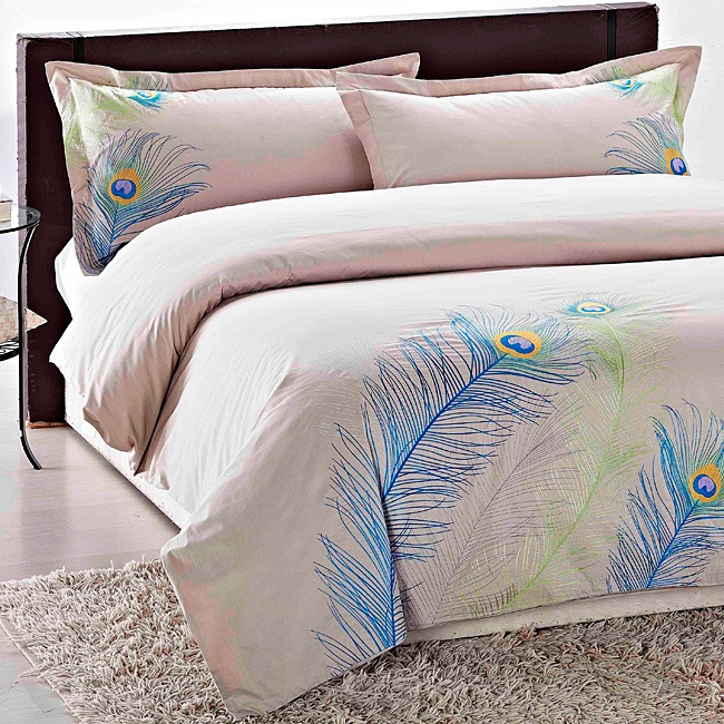 Spring/Summer sheets. :) $150: Peacock Feathers, Embroidered Peacock, Peacock Embroidered, Duvet Covers Sets, Master Bedrooms, New Bedrooms, 3 Pieces Duvet, Beds Sets, Bedrooms Decor