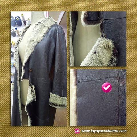 La yaya costurera: Arreglar costura rota de una chaqueta de piel // A...