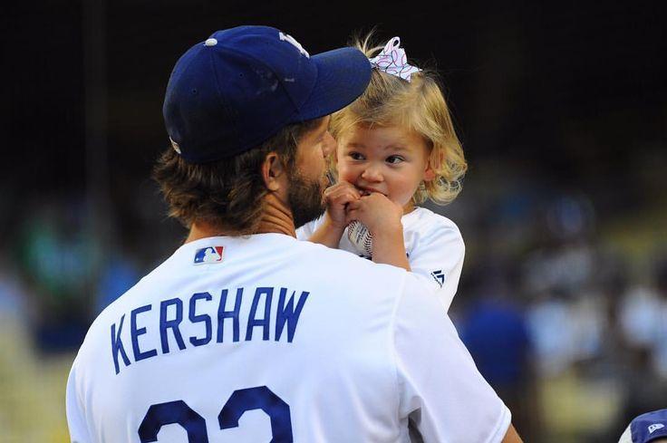 "8,690 Likes, 23 Comments - Jon SooHoo (@jon.soohoo) on Instagram: ""Cali Kershaw and dad before the game tonight. 📸 @jon.soohoo #Dodgers #Kershaw #MLB #Daughter"""