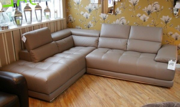 Captivating Ex Display Vivaldi Leather Corner Sofa Sofas North Wales S And