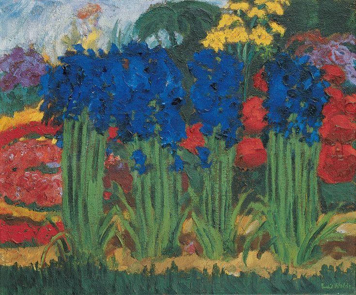 Emil Nolde, Flower Garden (O), 1922, shown in Painting the Modern Garden at the RA (30 Jan-20 April 2016). Oil on canvas. 74 x 89.5 cm. Nolde Stiftung Seebüll, © Nolde Stiftung Seebüll. Exhibition co-organised by the Royal Academy of Arts and the Cleveland Museum of Art