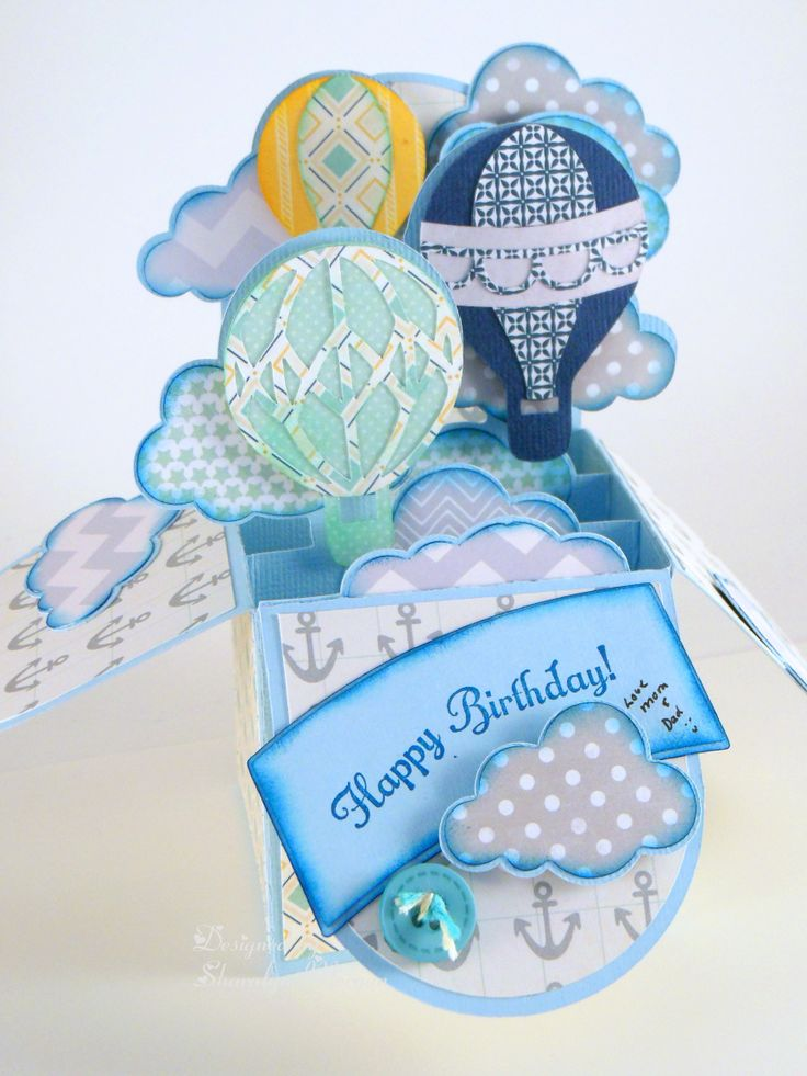 This is from the Box Card Kit on SVG Cuts and is the card I made for my son for his birthday this month!