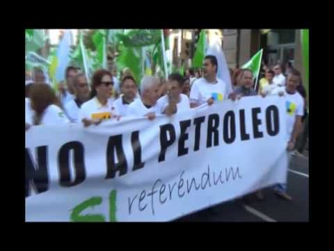 Manifestaciones contra las prospecciones petrolíferas en Canarias.