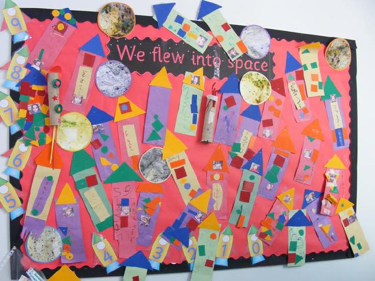 We flew into space classroom display photo - Photo gallery - SparkleBox