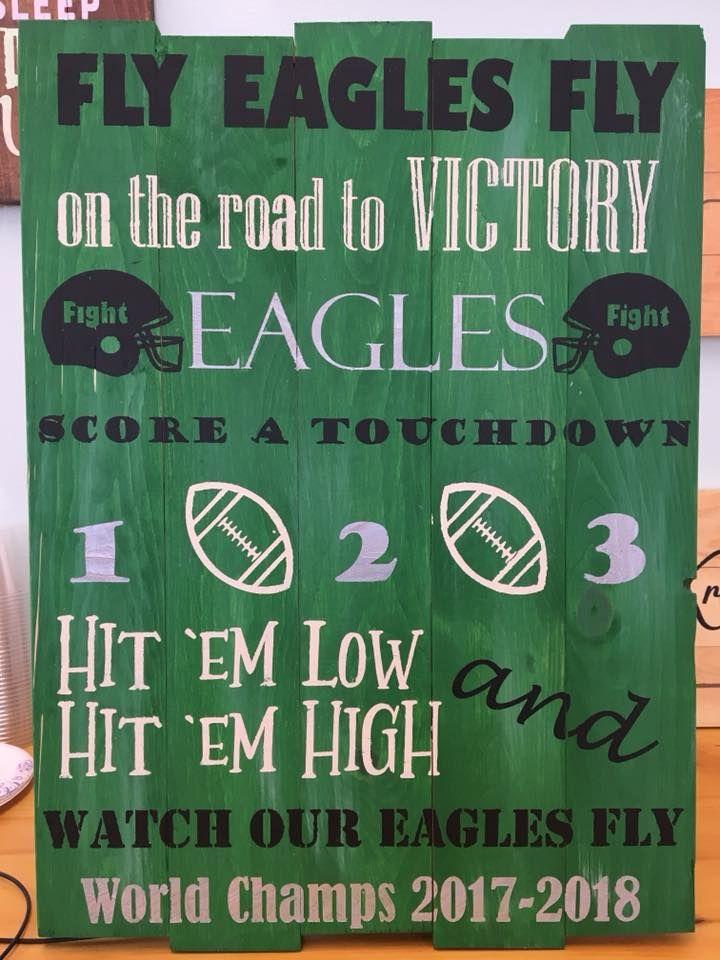 Philadelphia Eagles Fight Song Wood Sign