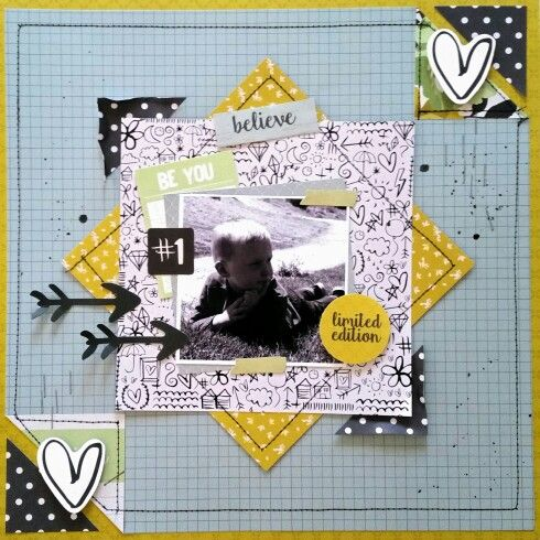 Kaisercraft : #Me collection :  #1 limited edition layout by Amanda Baldwin