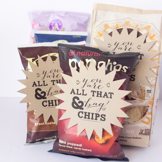 """""""All that and a bag of chips"""" Valentine's Day Printable"""