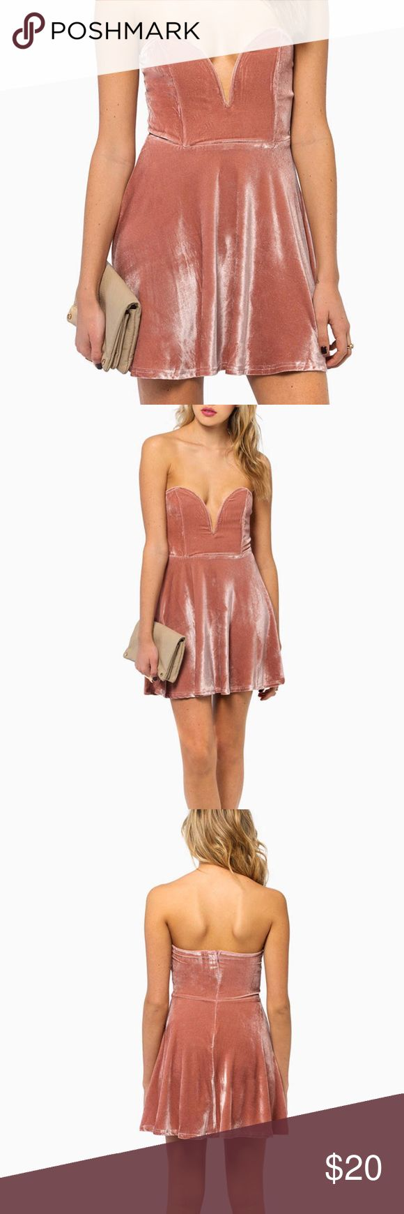 NWT 🔴Velvet Blush Nude Pink Flirty Dress The perfect combination of Flirty and Cute!  NWT and never worn. Perfect for Spring and Summer. Size Small but fits more for XS and Small tags: #festival #pink #tobi #asos #zara #forever21 #nordstrom #topshop #spring #flirty Tobi Dresses Mini