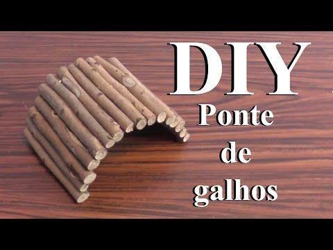 DIY: Brinquedos para Hamster -Ponte de Galhos- ( DIY Hamster Toys -Wooden Bridge- ) - YouTube