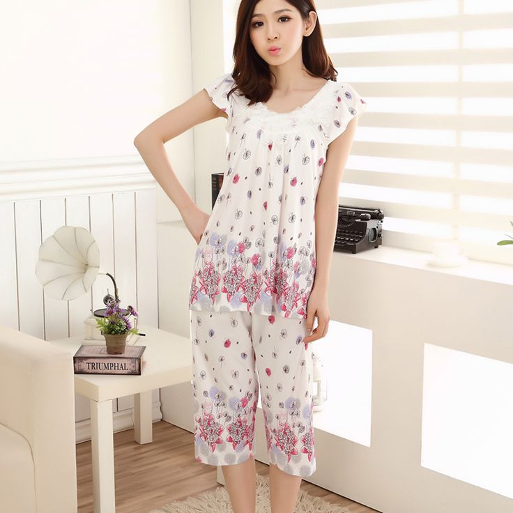 50Pcs/lot Modal sexy nightgown female short-sleeved summer dress cute cartoon girl tracksuit big yards women free shipping