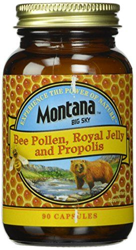 Montana Big Sky, Bee Pollen Royal Jelly and Propolis Capsules, 90 Count * Click on the image for additional details.