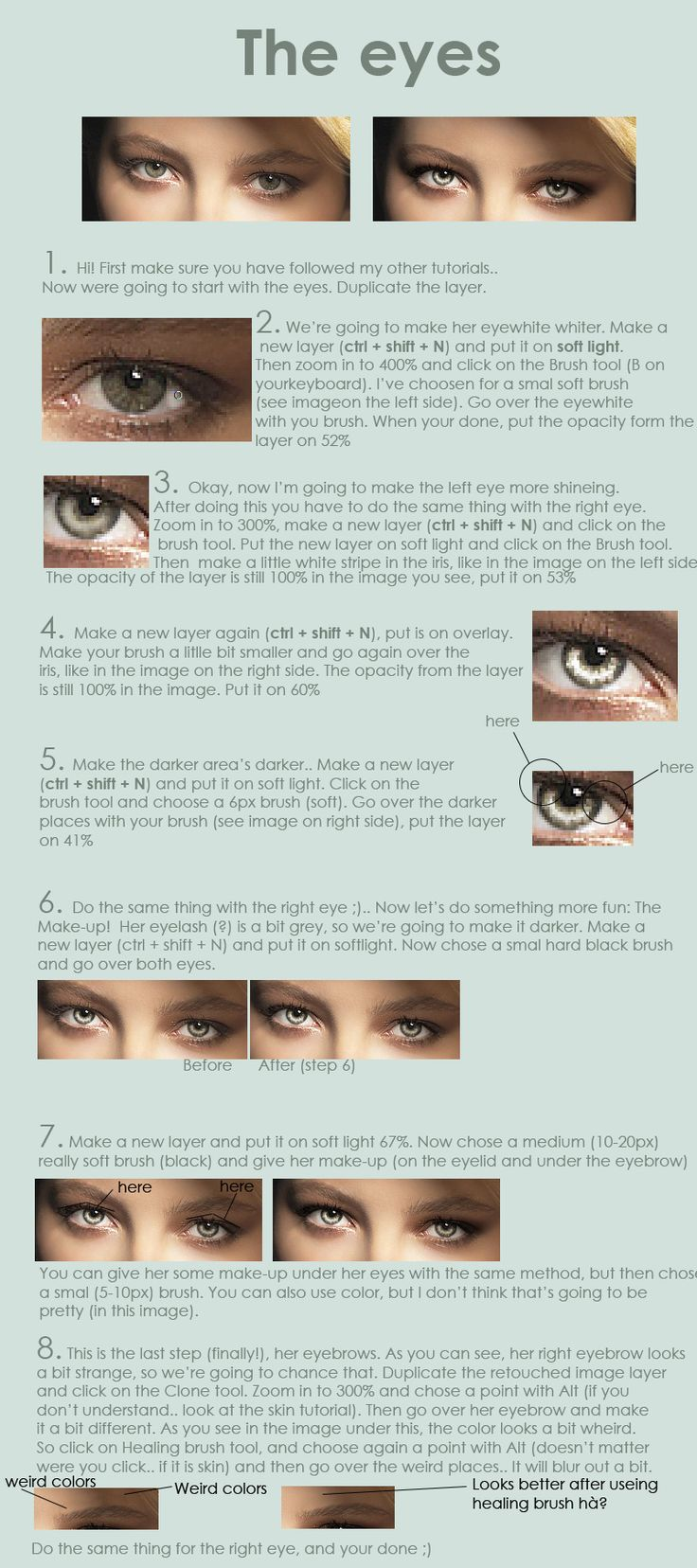Retouch eyes tutorial by ~EverythingsMagic on deviantART