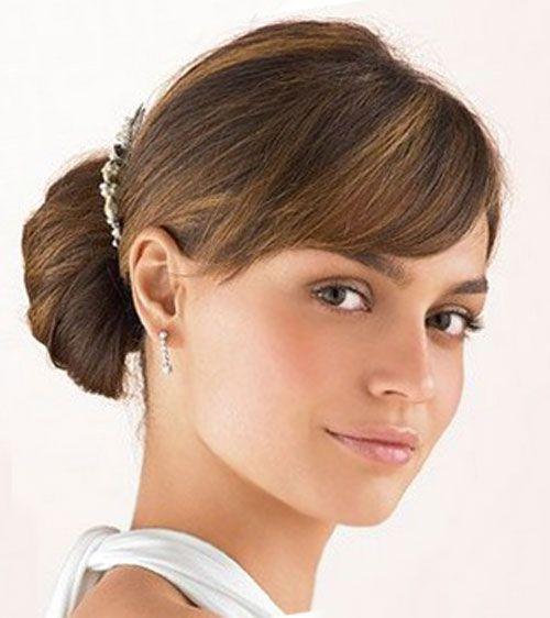 Fringe | hairstyles | Pinterest | Bangs, Wedding updo