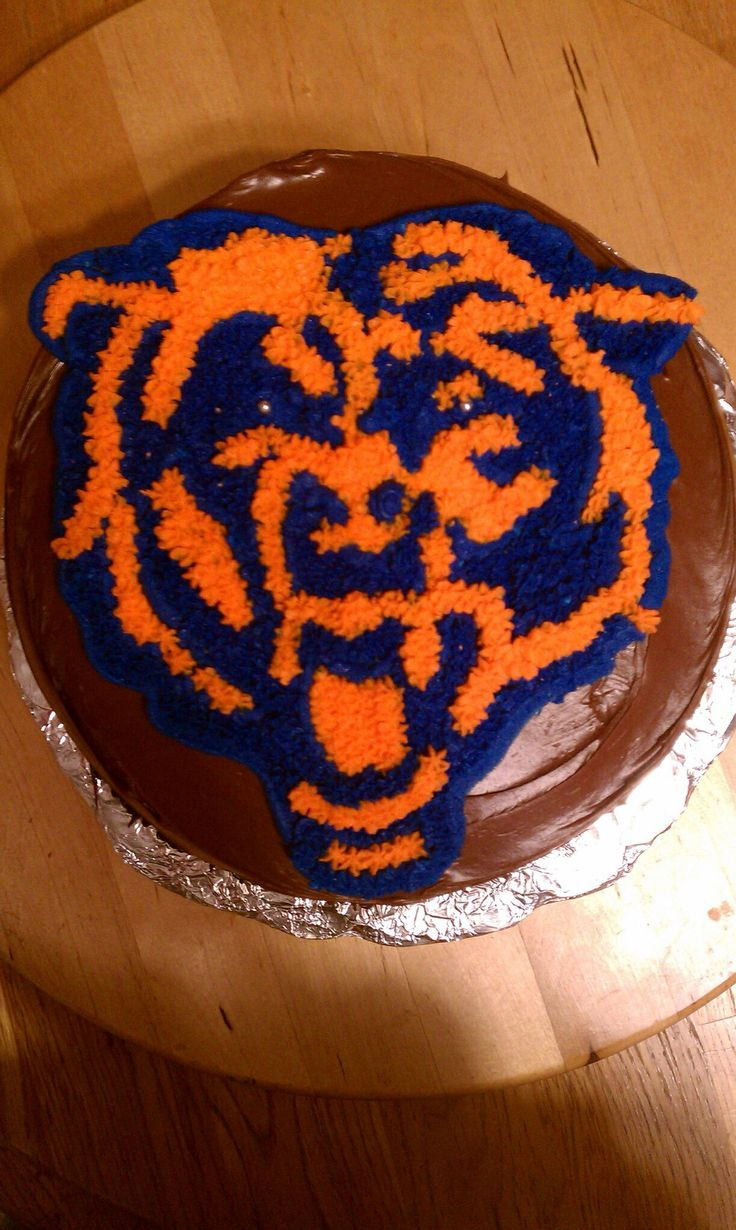 My first try at a Chicago Bears cake.