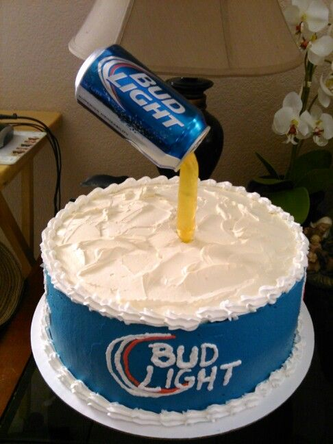 Bud Light Spilling Down On Cake Birthday Cake Party