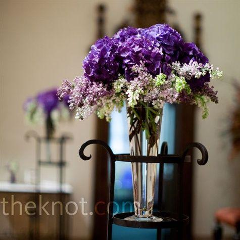 Purple Ceremony Arrangements
