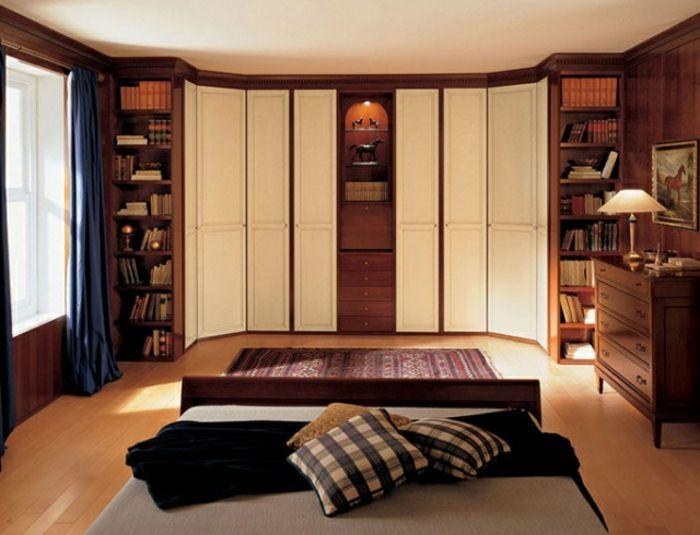 Trend gem tliches Schlafzimmer Kleiderschrank Idee mit Regalsysteme Stauraumfl che